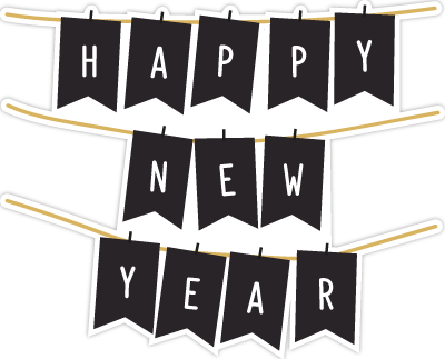 Enjoy New Year Stickers messages sticker-4