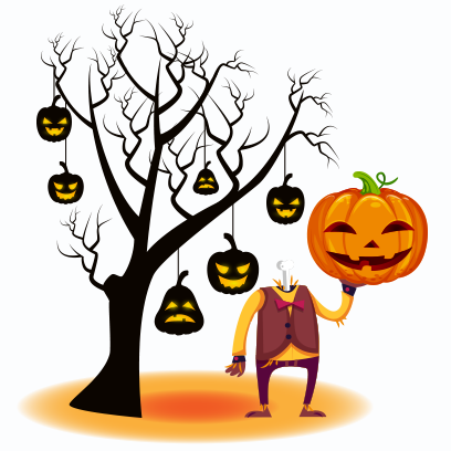 Happy Halloween Trick or Treat messages sticker-1