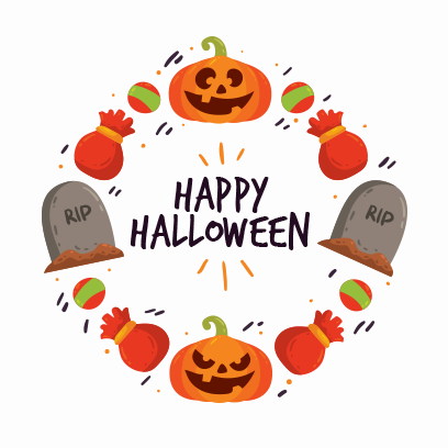 Happy Halloween Trick or Treat messages sticker-2