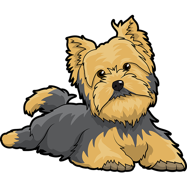 Yorkie Emojis For Dog lovers messages sticker-8