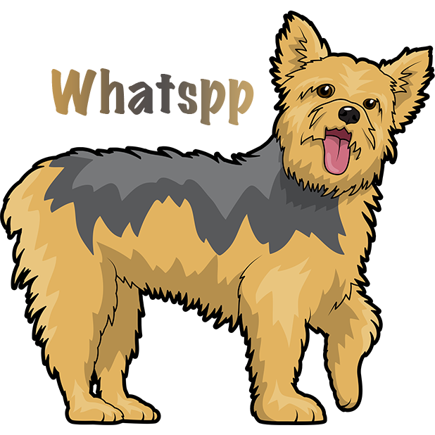 Yorkie Emojis For Dog lovers messages sticker-10