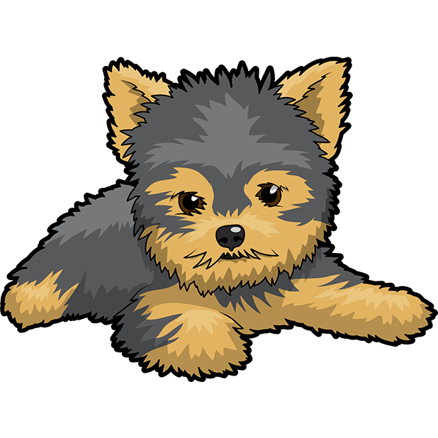 Yorkie Emojis For Dog lovers messages sticker-0