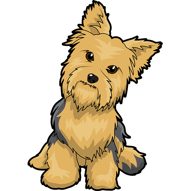 Yorkie Emojis For Dog lovers messages sticker-5
