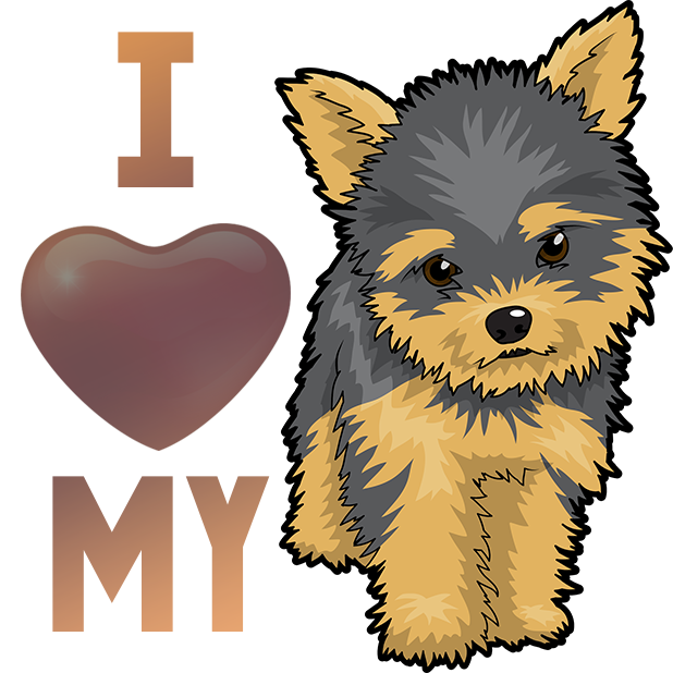 Yorkie Emojis For Dog lovers messages sticker-9
