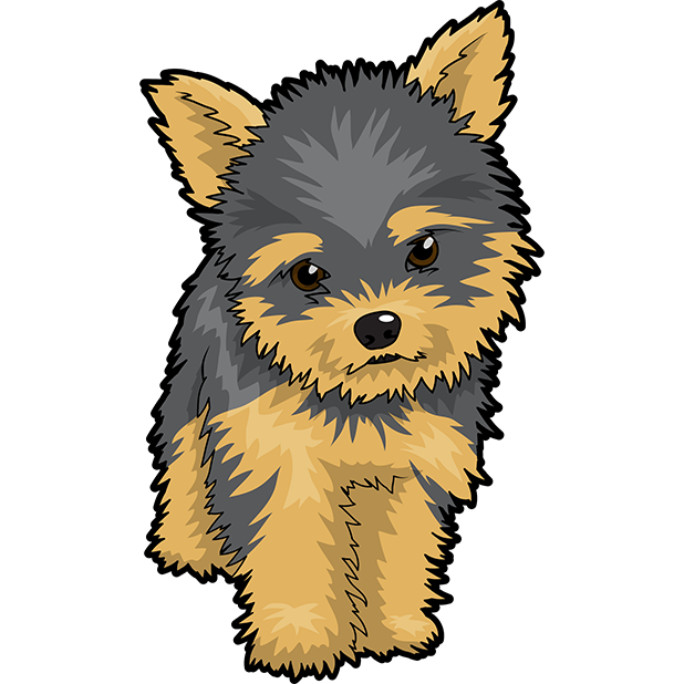 Yorkie Emojis For Dog lovers messages sticker-1
