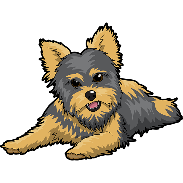 Yorkie Emojis For Dog lovers messages sticker-2
