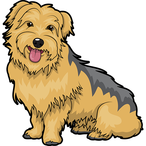 Yorkie Emojis For Dog lovers messages sticker-7