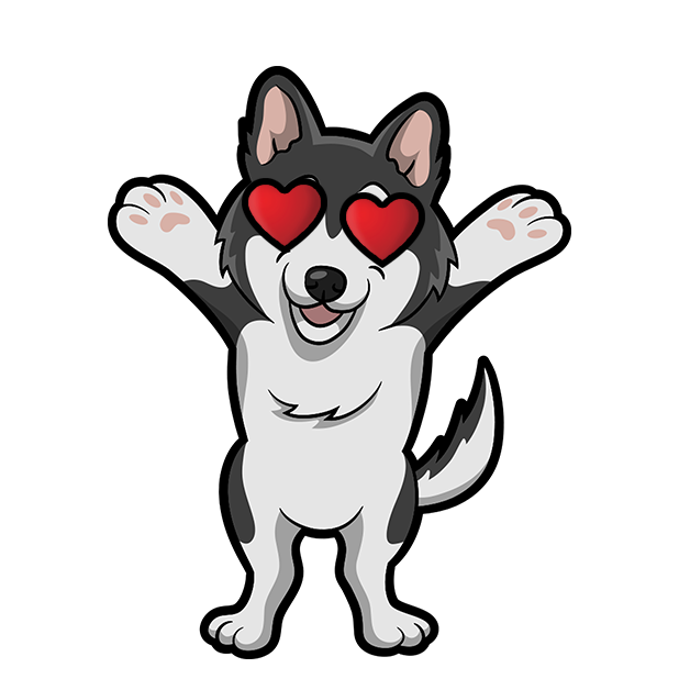 My HuskyMoji Dog Stickers messages sticker-11