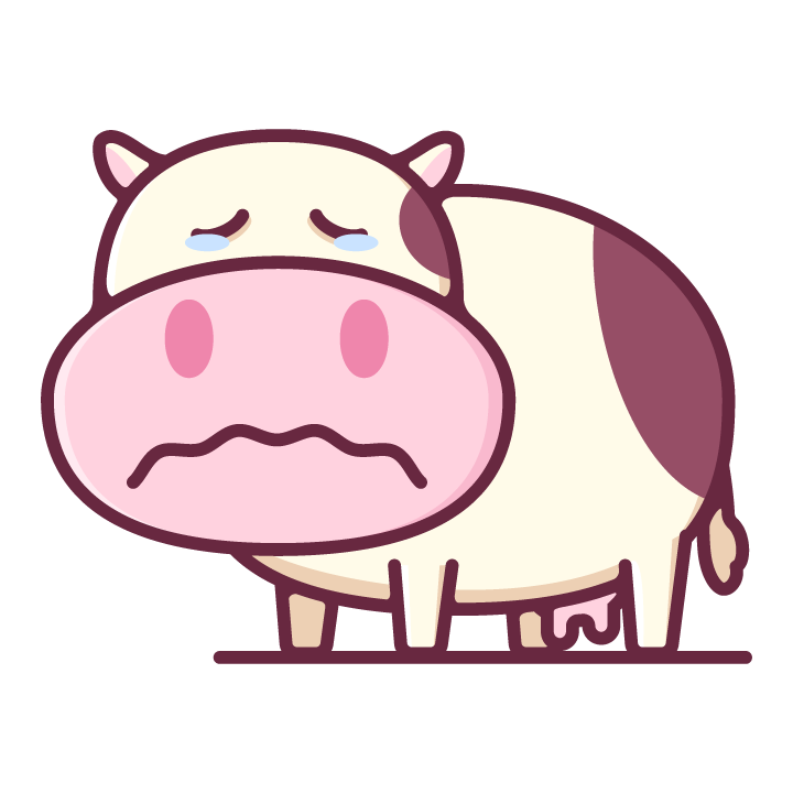 Moody Cow messages sticker-10