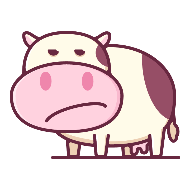 Moody Cow messages sticker-4