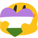 PrideHeartBlobs messages sticker-9