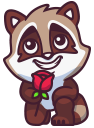 raccoonSTiK stickers iMessage messages sticker-7