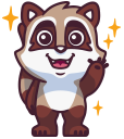 raccoonSTiK stickers iMessage messages sticker-0