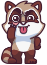 raccoonSTiK stickers iMessage messages sticker-5