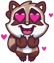 raccoonSTiK stickers iMessage messages sticker-6