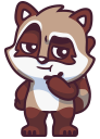raccoonSTiK stickers iMessage messages sticker-3