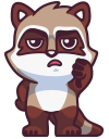 raccoonSTiK stickers iMessage messages sticker-11
