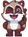 raccoonSTiK stickers iMessage messages sticker-1