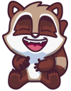 raccoonSTiK stickers iMessage messages sticker-4