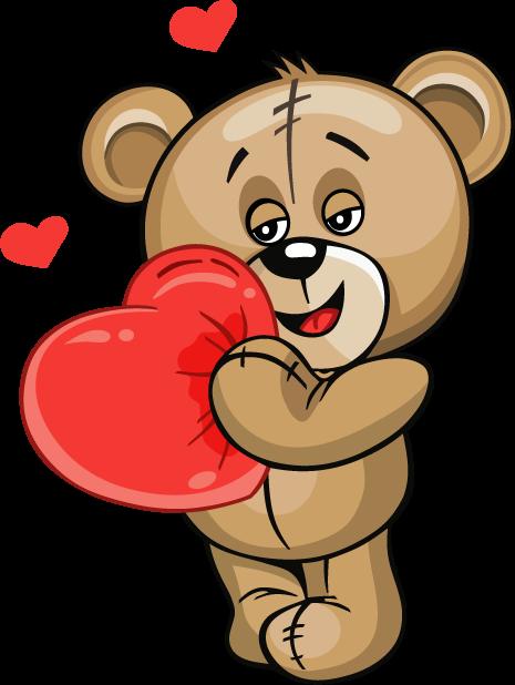 Huge Teddy Bear messages sticker-1