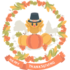 Fun Thanksgiving Sticker messages sticker-7