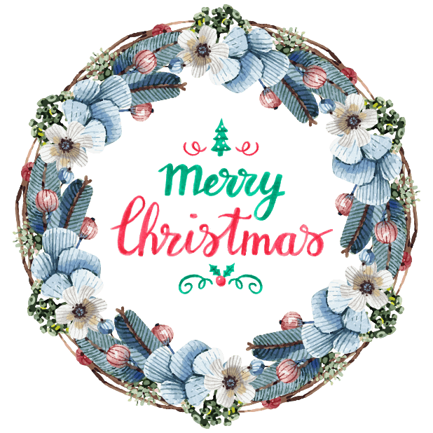 Beautiful Watercolor Christmas messages sticker-3
