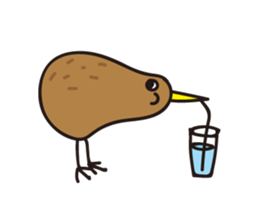 Kiwi The Lonely Bird Sticker messages sticker-6