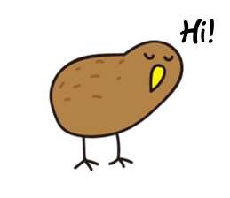 Kiwi The Lonely Bird Sticker messages sticker-0