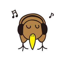 Kiwi The Lonely Bird Sticker messages sticker-3