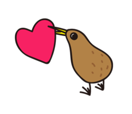 Kiwi The Lonely Bird Sticker messages sticker-1