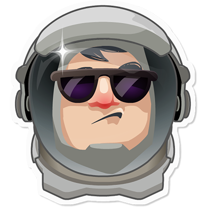 Planet Commander: Space action messages sticker-4