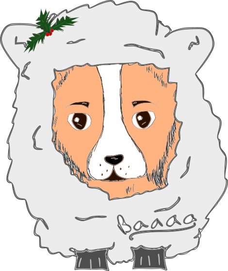 Cute Corgi Christmas messages sticker-8