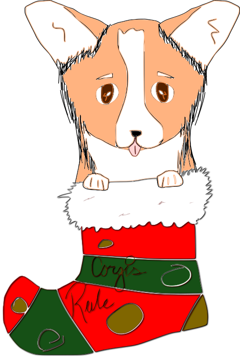 Cute Corgi Christmas messages sticker-4