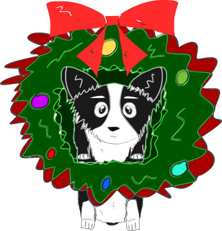 Cute Corgi Christmas messages sticker-1