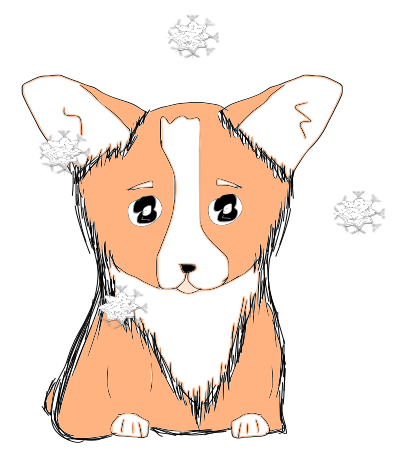 Cute Corgi Christmas messages sticker-0