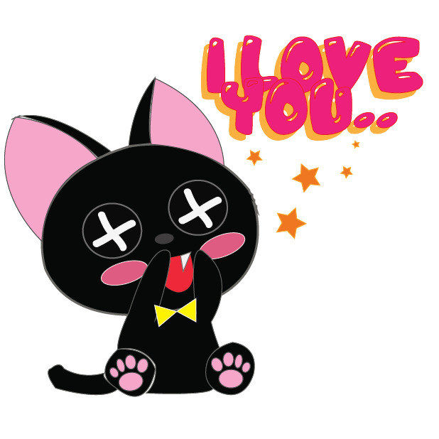 Vampire Kitty Stickers messages sticker-1