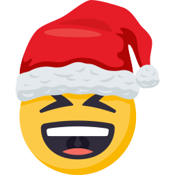 Santa Smiley Pack: by EmojiOne messages sticker-8