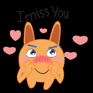 Bunny emoji animated messages sticker-9