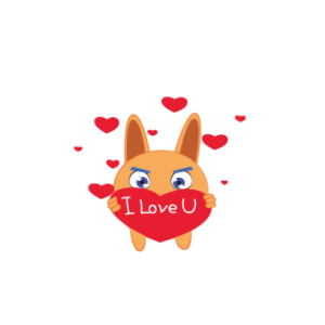 Bunny emoji animated messages sticker-1