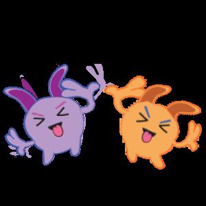 Bunny emoji animated messages sticker-11