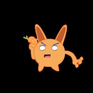 Bunny emoji animated messages sticker-2
