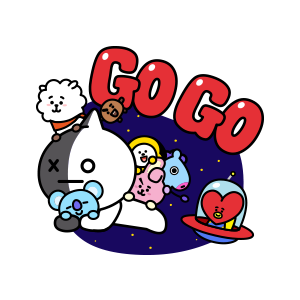 BT21's Everyday Cuteness messages sticker-5