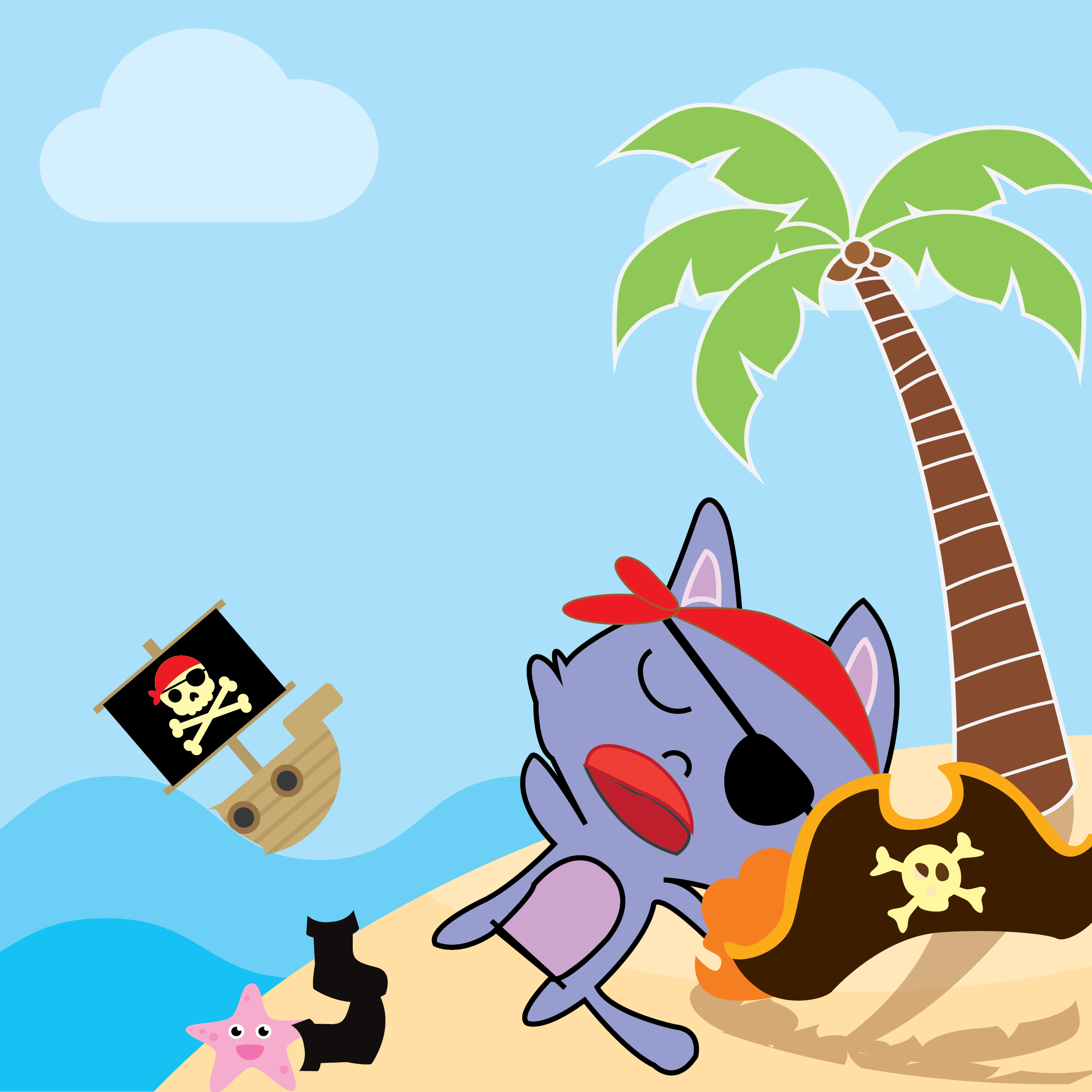 Pirate Kitties Stickers messages sticker-0