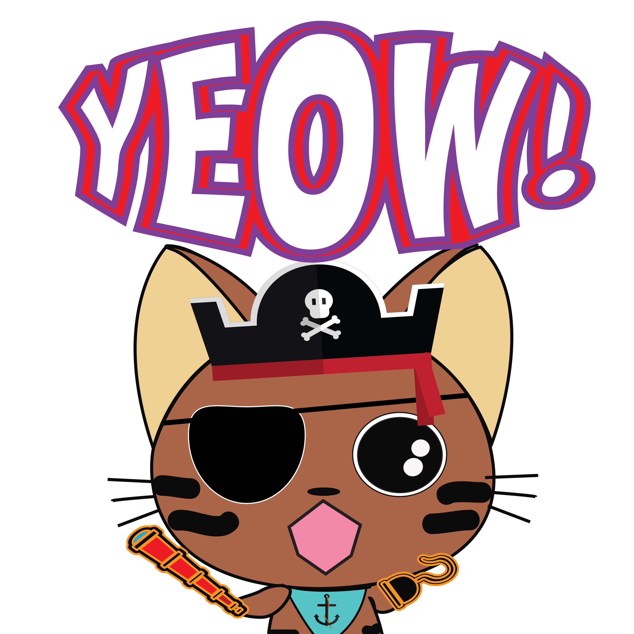 Pirate Kitties Stickers messages sticker-1