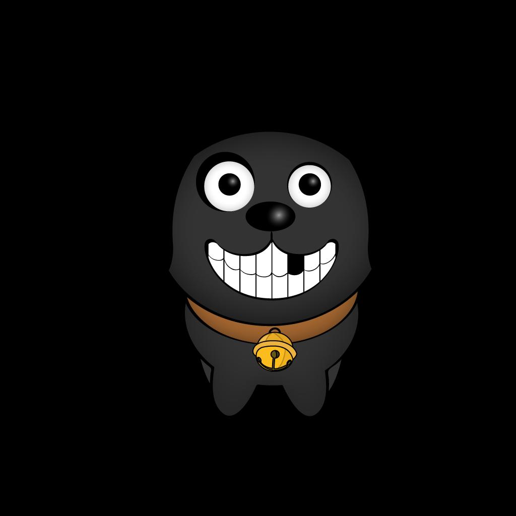 Cutest Black Dog messages sticker-11