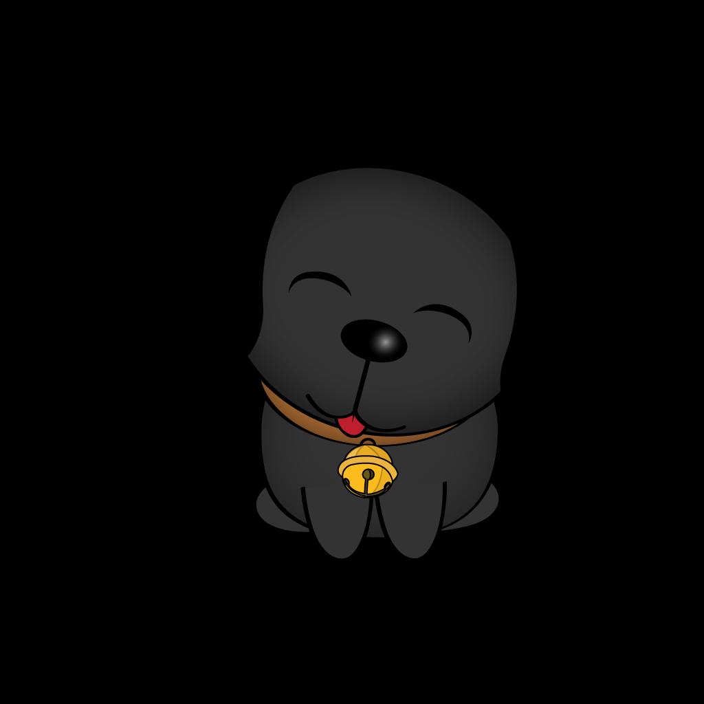 Cutest Black Dog messages sticker-1