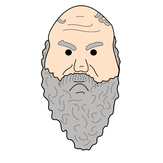 Philosophy Stickers: Socrates messages sticker-2