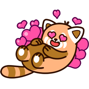 Cute Red Panda Stickers messages sticker-3