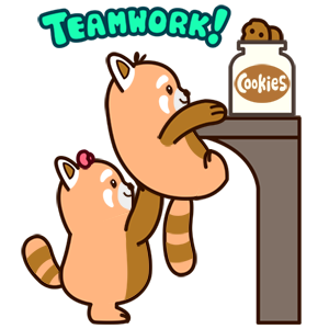 Cute Red Panda Stickers messages sticker-2
