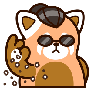 Cute Red Panda Stickers messages sticker-7